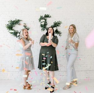 Weddings with Joy celebrating over 40 years of helping brides with a confetti popper!